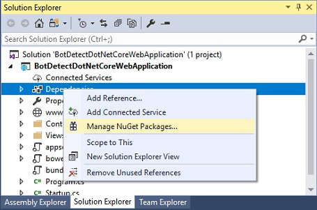 BotDetect ASP.NET Core Add Nuget Package