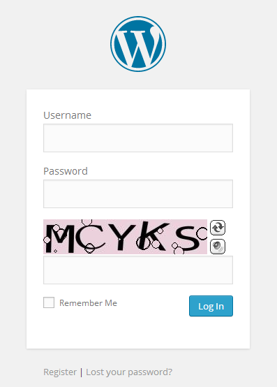 WordPress Login Captcha